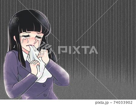 レトロ少女漫画タッチのイラスト