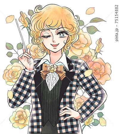 昭和の少女漫画タッチのイラスト